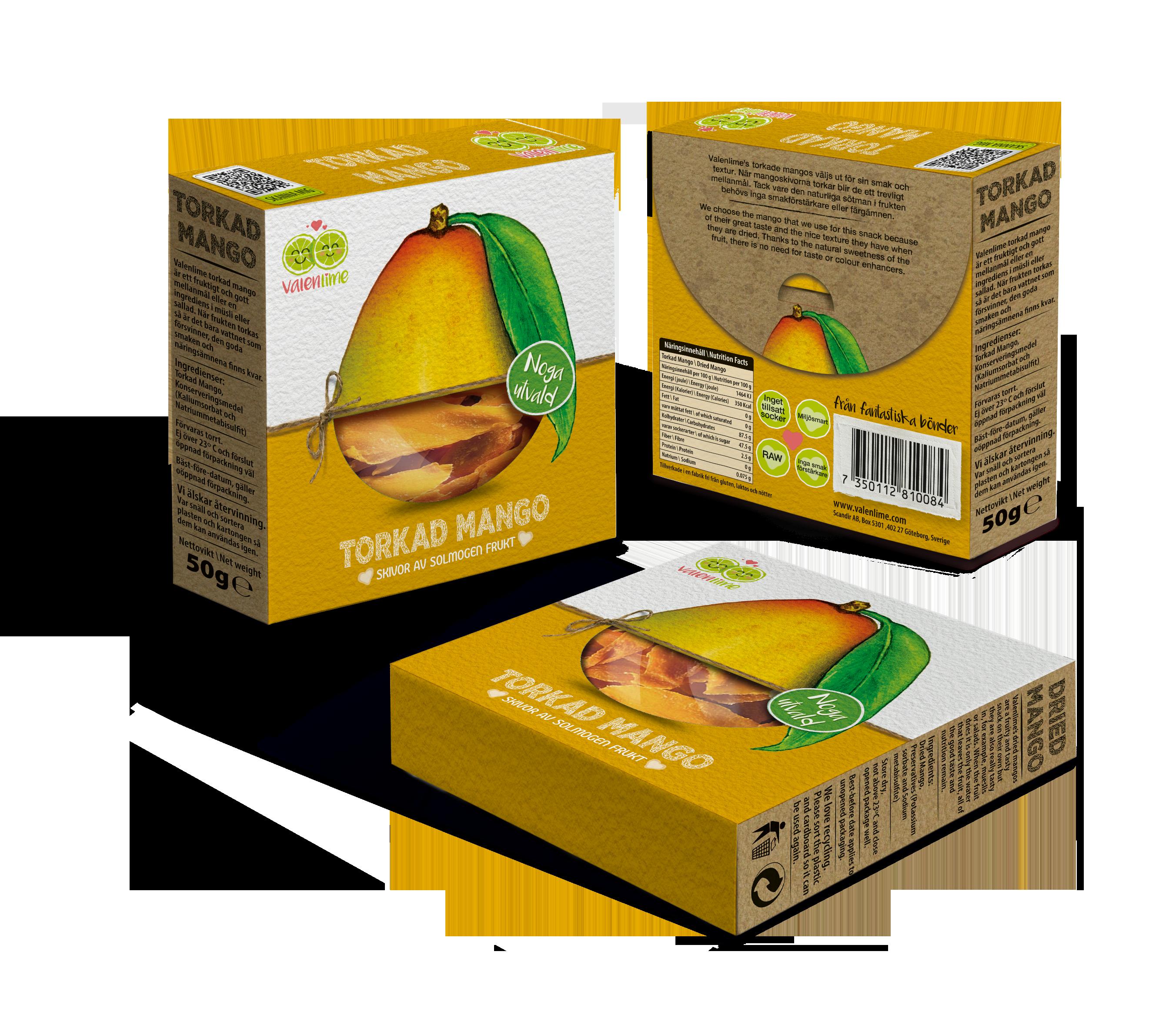 torkad mango näringsinnehåll